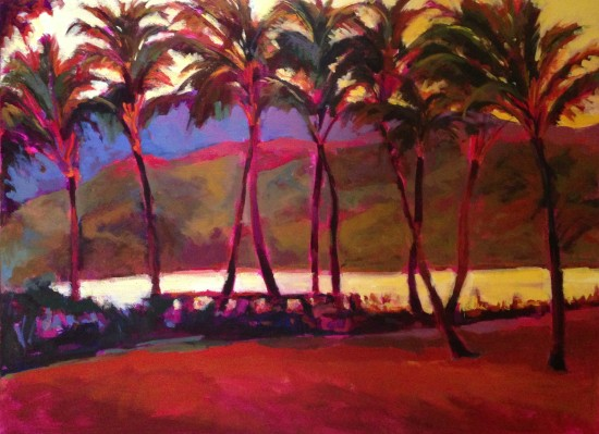 """Vintage Kauai 30"""" X 40"""" Acrylic on Canvas"""