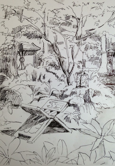 Commission sketch, Garden of Fortune