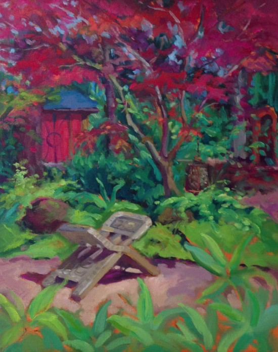 """Garden of Fortune 16"""" X 20"""" oil on canvas"""