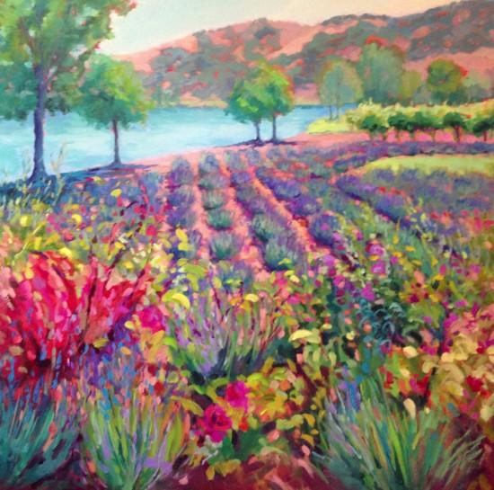 "Lion's Peak Garden 36"" x 36"" oil on canvas"