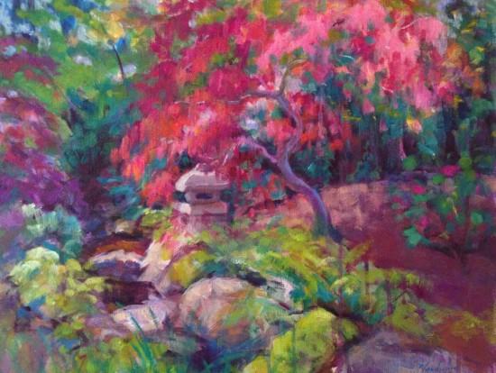 """Meditation""-Acrylic on canvas, 16"" X 20"""