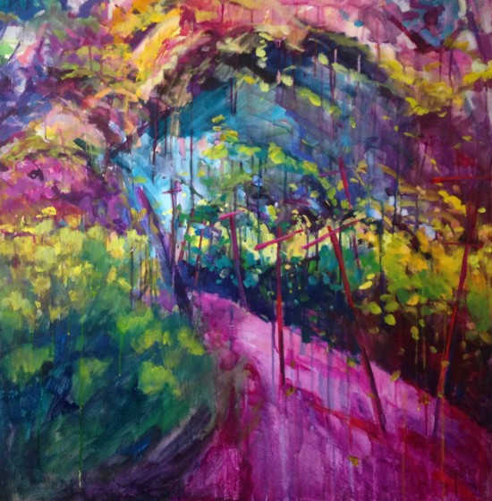 "I Got Rhythm ~36"" x 36"" acrylic on museum wrapped canvas"