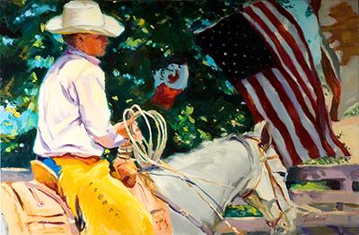 "California Cowboy 24"" x 36"" Oil on linen"