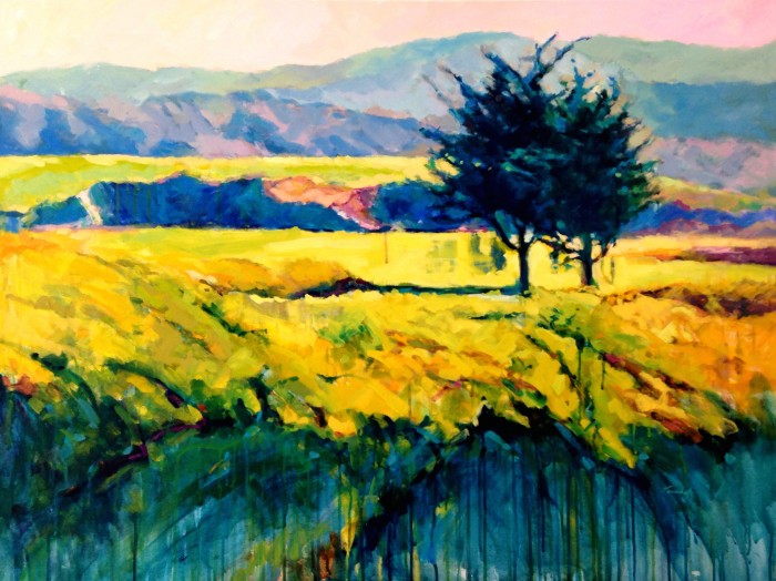 """""""View From The 18th Hole"""" 36"""" x 48"""" gallery wrapped, Oil and Acrylic  $4320"""