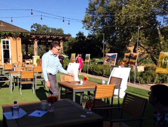 Wine and Art on the Oak Terrace CordeValle