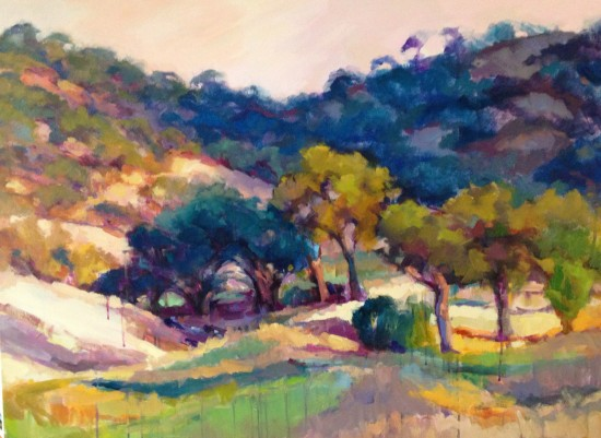 """View From Il Vigneto Sold 30"""" x 40"""" oil and acrylic"""